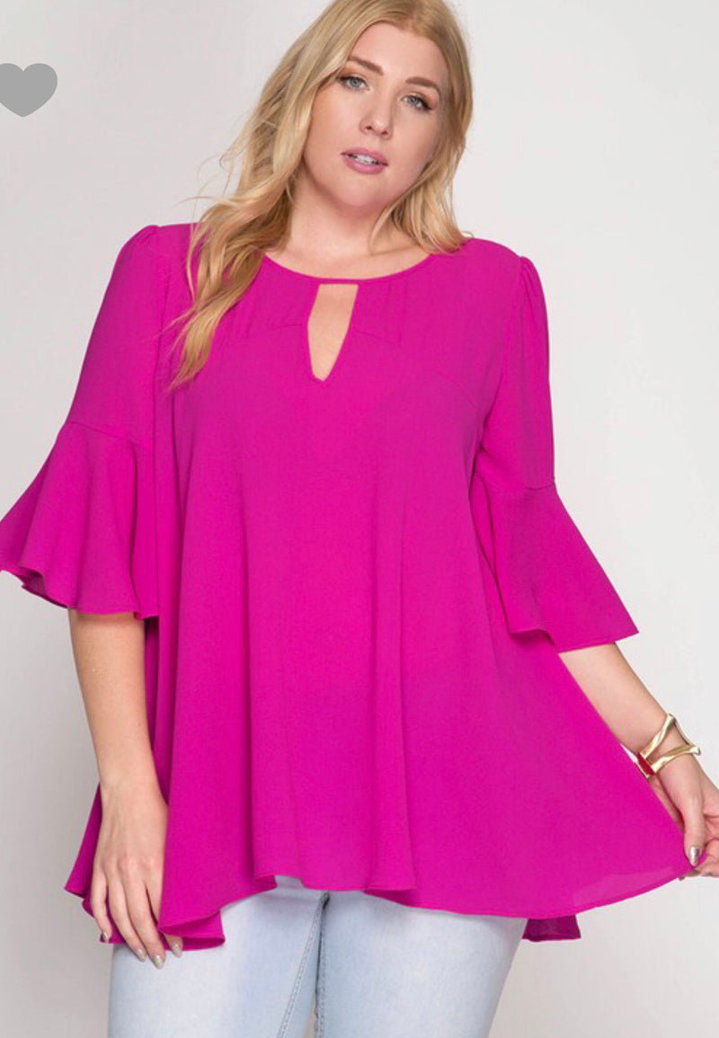 Just the Beginning Top - Magenta