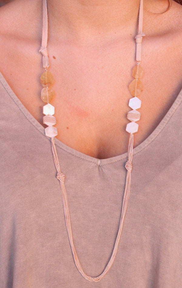 Charly Strap Necklace - Rose Gold