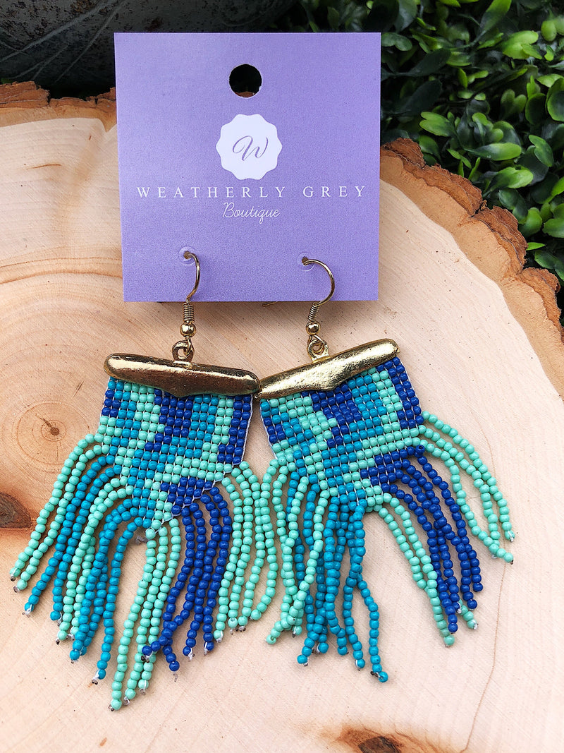 Tasseled Seed Bead Earrings