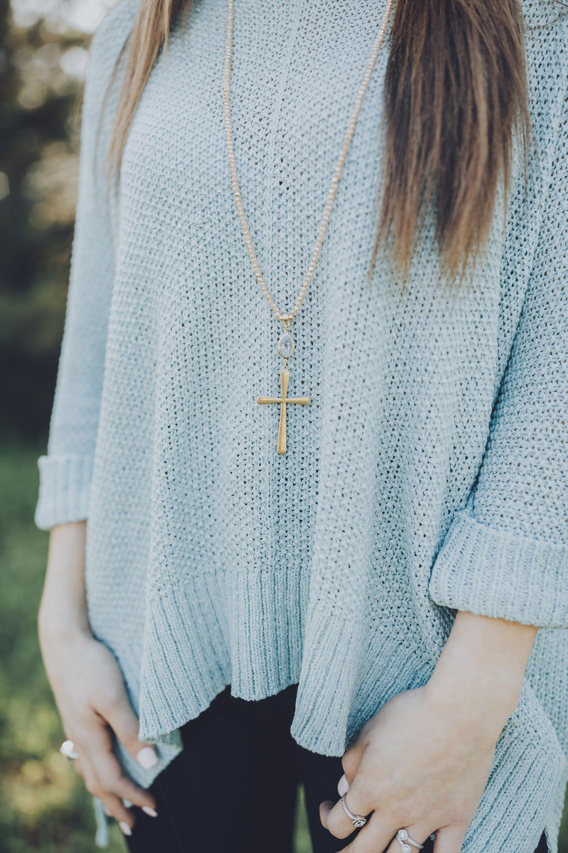 Meet At The Cross Necklace - Champagne