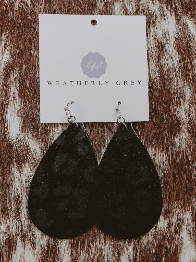 Midnight Teardrop Earrings