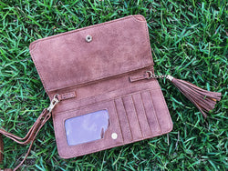 Three In One Maria Crossbody - Distressed Camel