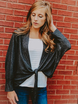 Soft As Silk Jacket - Charcoal