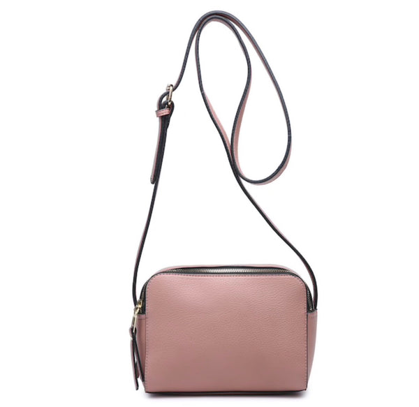 Dual Zipper Bag -  Mauve