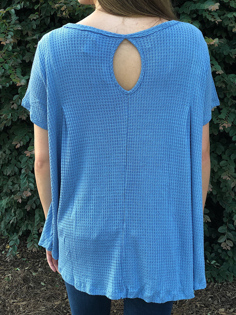 Better Than The Rest Soft Thermal Top - Faded Blue