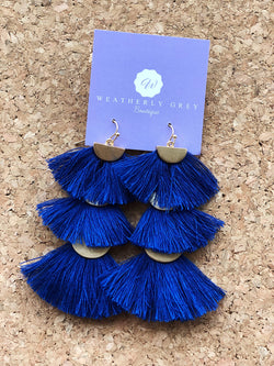 Three Tier HalfMoon Tassels