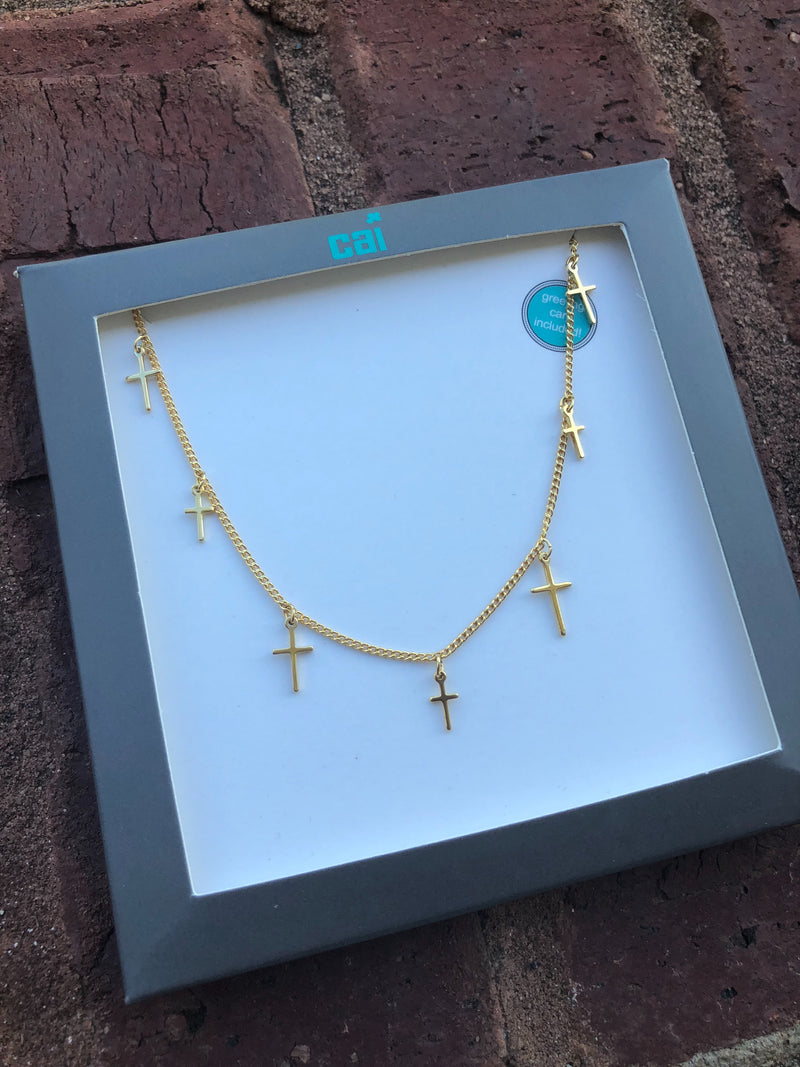 Cross Celestial Necklace - Gold