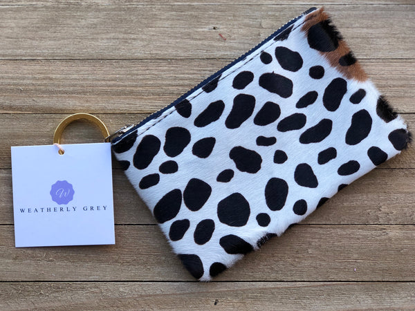 Mini Wallet With Leopard Print Fur