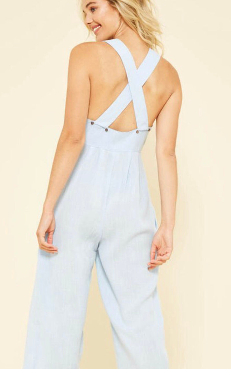 Conquer From Within Jumpsuit - Sky Blue