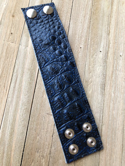 Money Cuff- Crocodile, Navy
