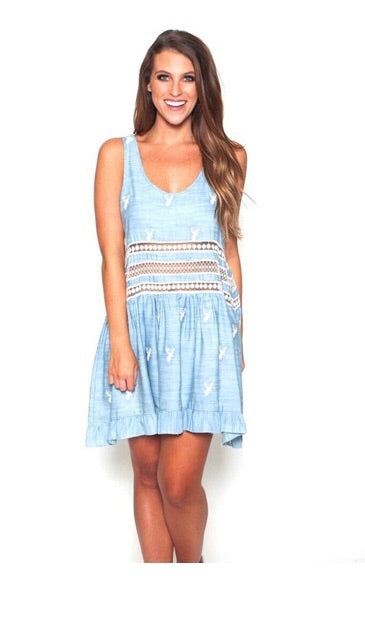 Sweet Little Thing Dress - Denim