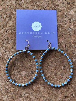 Teardrop Earrings - French Blue