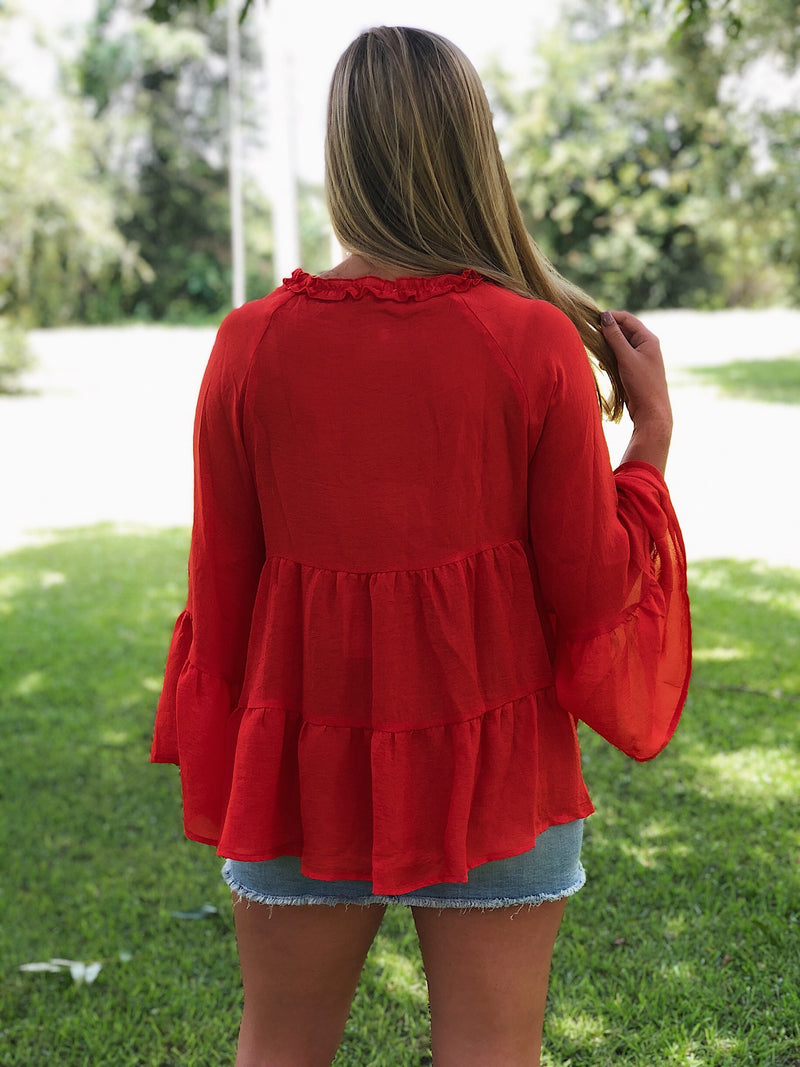 Showstopper Top - Hot Coral