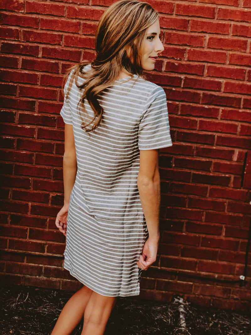 Be Bold Dress - Grey