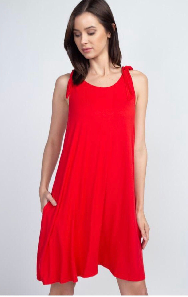 Prim And Proper Dress - Red