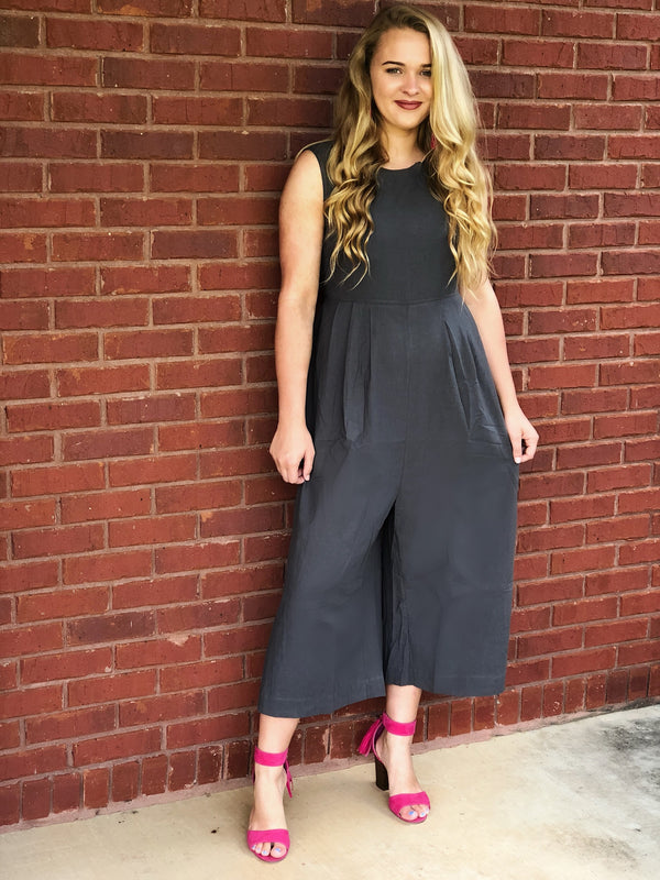 Take On The World Jumpsuit - Soot