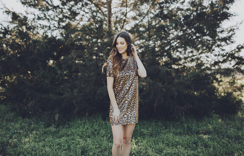Sequin Leopard Dress