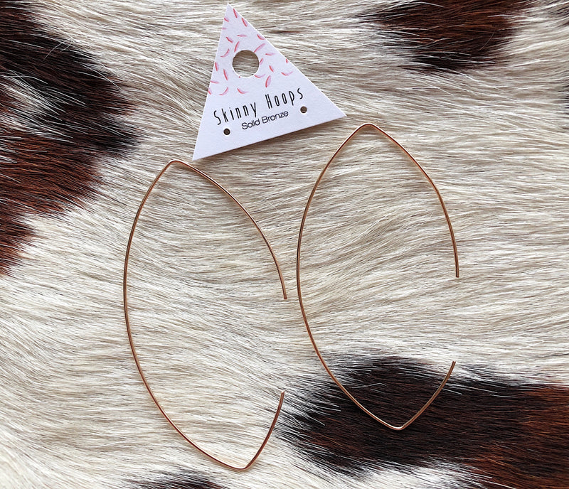 Geometric Skinny Hoops