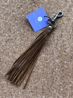 Tassel Keychain - Genuine Leather