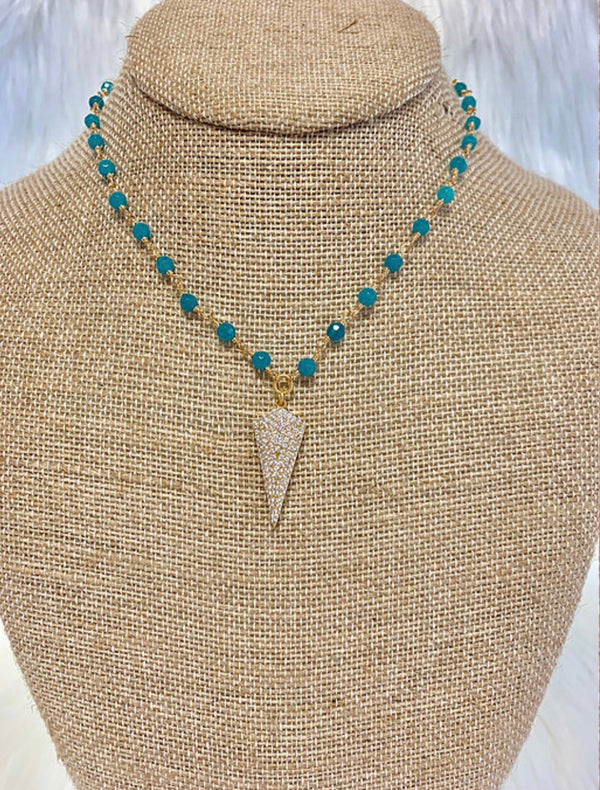 Chandler Necklace - Teal
