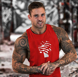 Skull USA Print Vest for the Gym, Workout, Bodybuilding, Fitness Stringer - Metaphysiqueonline