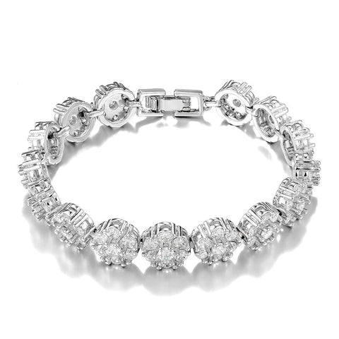 925 Sterling Silver Bracelets Charm Bride Wedding Bracelet