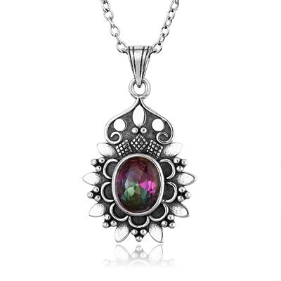 925 Sterling Silver Topaz Pendants Necklaces