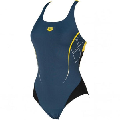 Arena Destiny Swim Pro - Women's Swimwear - Black/Yellow