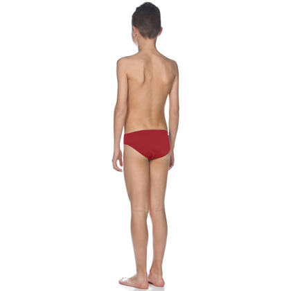 Arena Solid Brief Boy's Swimwear - Red
