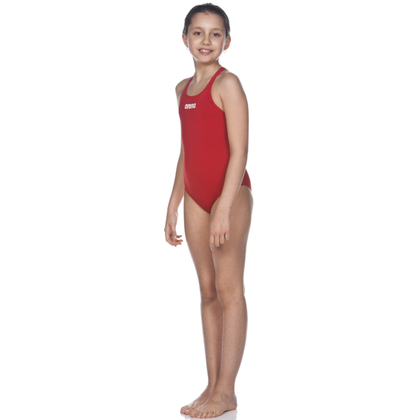Arena Solid Swim Pro One Piece Girl's Training Swimwear - Red