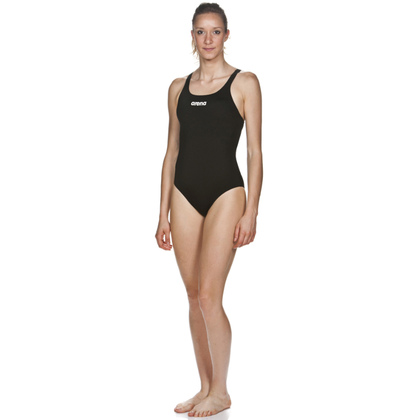 Arena Solid Swim Pro One Piece Women's Training Swimwear - Black