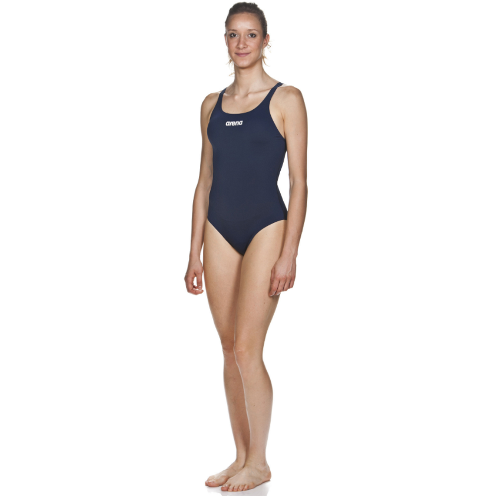Arena Solid Swim Pro One Piece Women's Training Swimwear - Navy