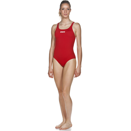 Arena Solid Swim Pro One Piece Women's Training Swimwear - Red