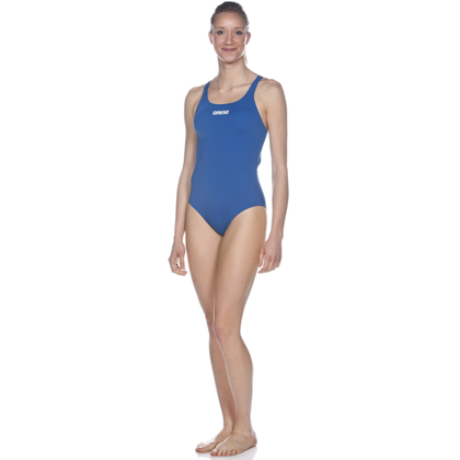 Arena Solid Swim Pro One Piece Women's Training Swimwear - Royal