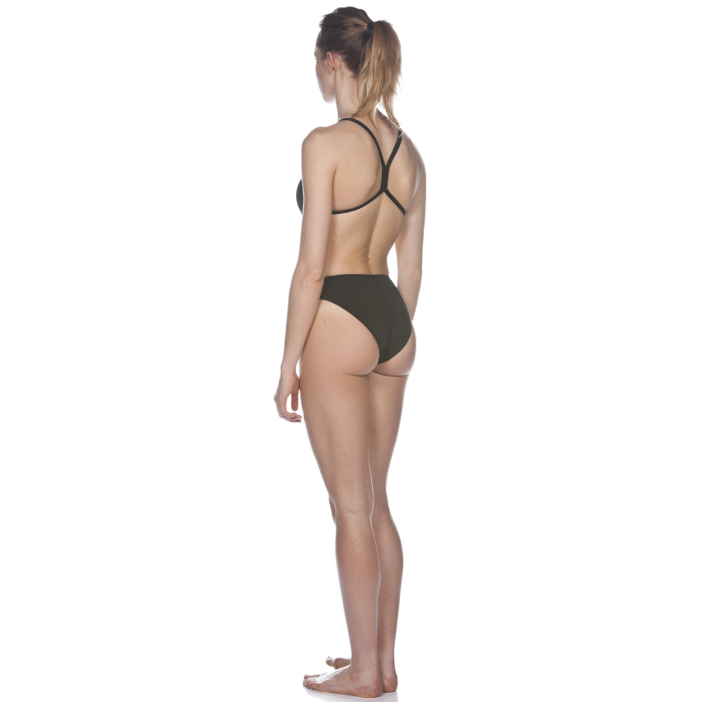 Arena Solid Light Tech High One Piece Women's Training Swimwear - Black