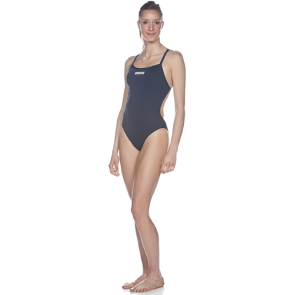 Arena Solid Light Tech High One Piece Women's Training Swimwear - Navy