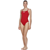 Arena Solid Light Tech High One Piece Women's Training Swimwear - Red