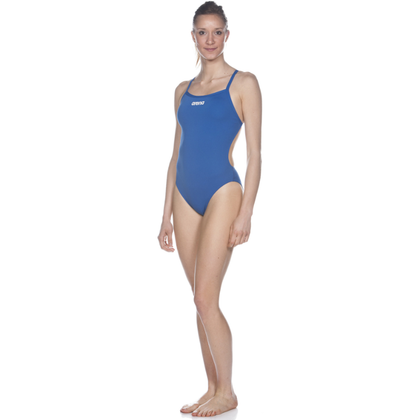 Arena Solid Light Tech High One Piece Women's Training Swimwear - Royal