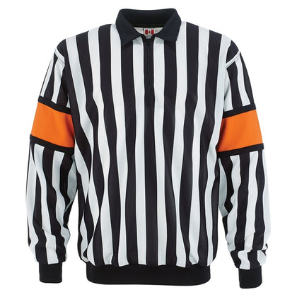 CCM PRO 150 Hockey Referee Jersey With Orange Armbands