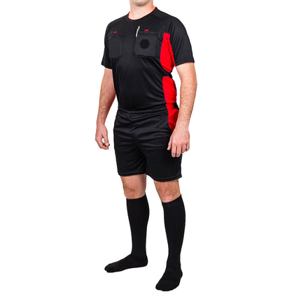 Arbitre-Équipement Soccer Referee Uniform - Black