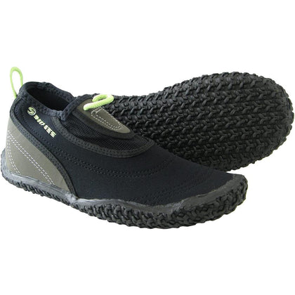 Deep See BeachWalker - Narrow Water Shoes - Black / Silver / Lime