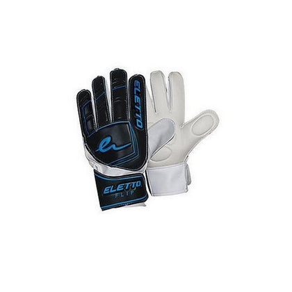 Flip Flat Goal Keepers Gloves - Eletto - Black/Blue