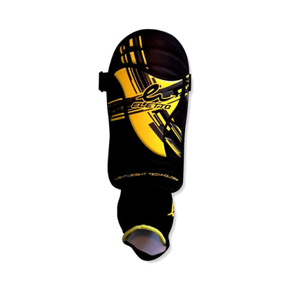 Eletto Gala Pro II Soccer Player Shin Guards - Black/Yellow