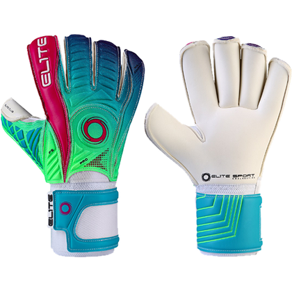 Club Goal Keepers Gloves - Elite Sport - Green/Pink/Blue