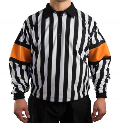 Force Pro Hockey Referee Jersey With Orange Armbands