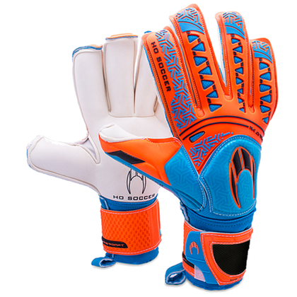 Ikarus Roll Finger Goal Keepers Gloves - HO Soccer - Orange/Blue