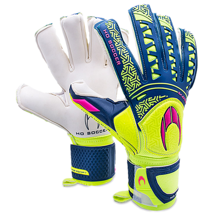 Ikarus Roll Negative Goal Keepers Gloves - HO Soccer - Lime/Blue