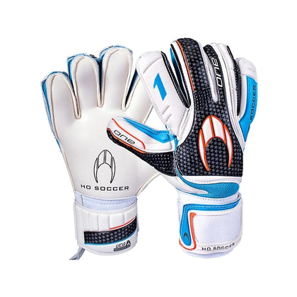 One Flat Goal Keepers Gloves - HO Soccer - White/Black/Blue