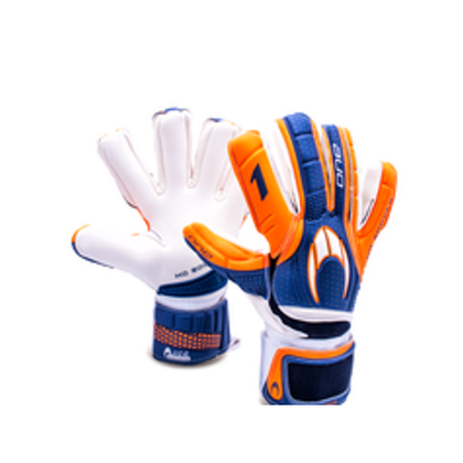 One Negative Goal Keepers Gloves - HO Soccer - Orange/Blue