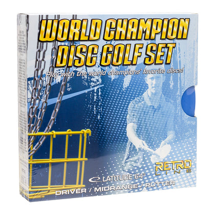 Latitude 64 World Champion Retro Disc Golf Starter set